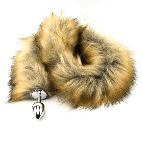 Furry Fantasy Metal Butt Plug with Red Fox Tail
