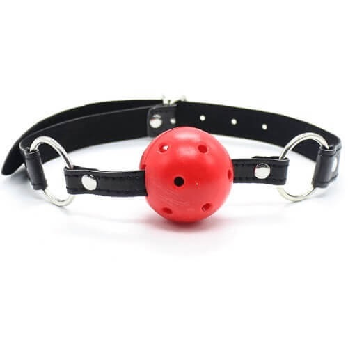 Bound to Please Breathable Ball Gag Red